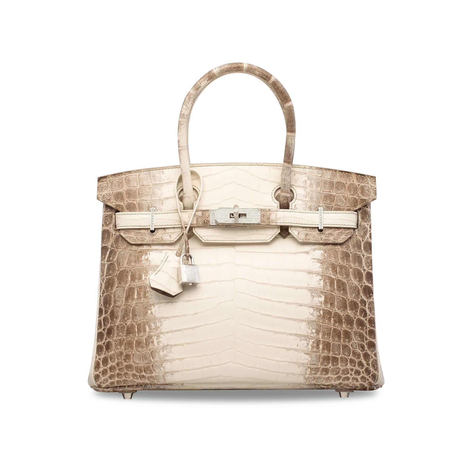 Diamond hermes ostrich bag