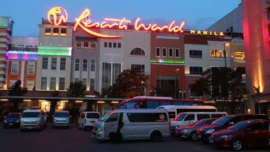 Resorts World hotel in Manila, Philippines.