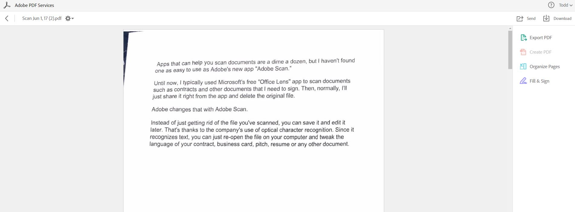 Image of: Elegantly Cnbccom Adobe Scan First Look