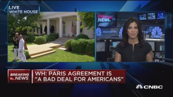 WH: Paris agreement is 'a bad deal for Americans'