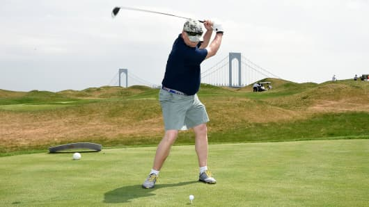Trump Golf Links Ferry Point in the Bronx, New York.