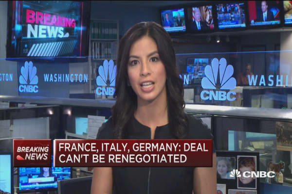 France, Italy, Germany: Deal can't be renegotiated
