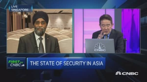 Canada Natl Defense Min on multilateralism, NATO spending
