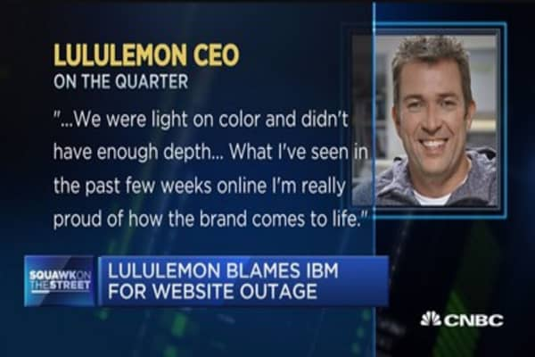 Lululemon blames IBM for website outage