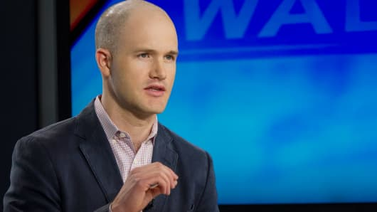 Brian Armstrong, co-founder and chief executive officer of Coinbase Inc.