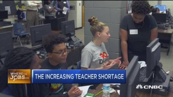 The increasing teacher shortage
