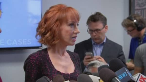 Comedian Kathy Griffin contacted by Secret Service after Trump photo, civil rights lawyer says