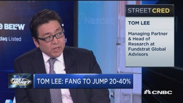 Here's how much FANG stocks can still soar: Tom Lee