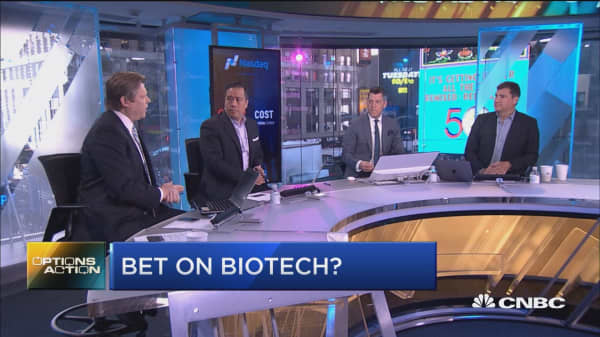 Chart points to big gains for this biotech stock