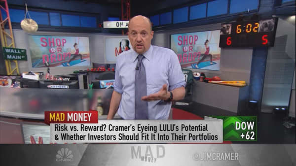 Cramer: With the stock of Lululemon, it's no pain, no gain