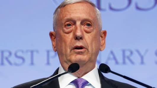 Secretary of Defense James Mattis speaks at the 16th IISS Shangri-La Dialogue in Singapore June 3, 2017.