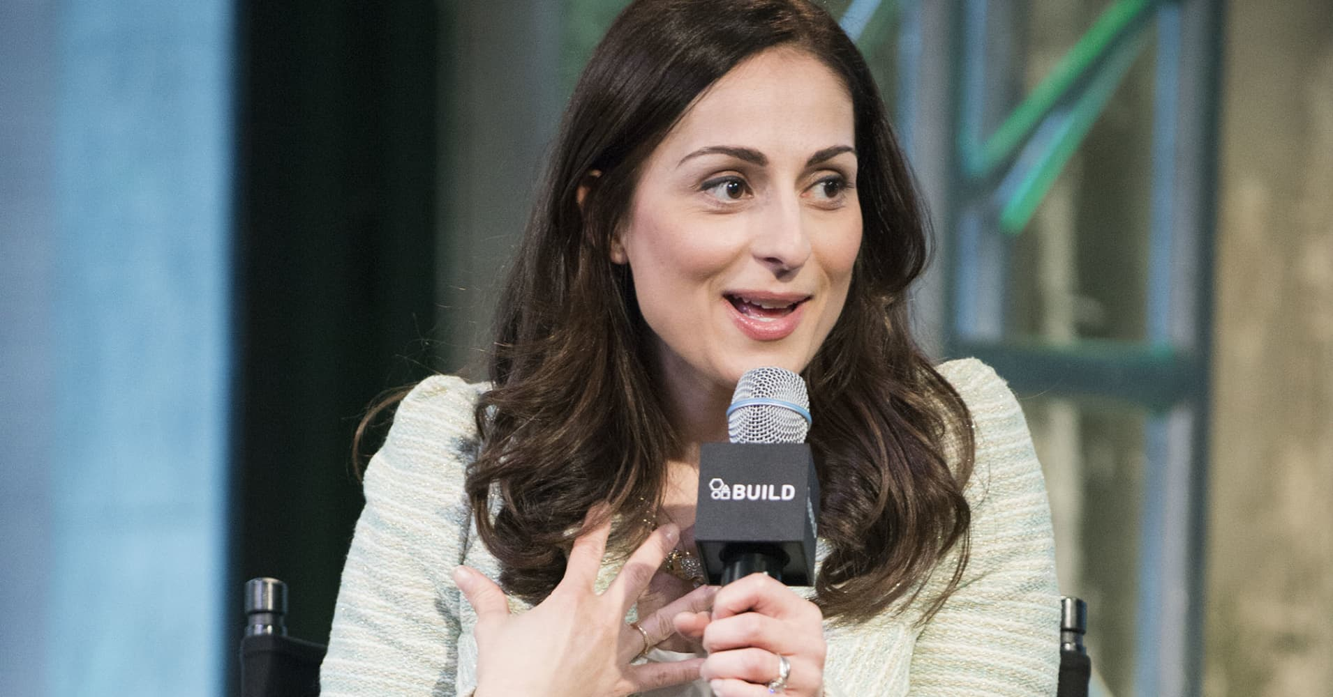 "Farnoosh Torabi, host of CNBC's ""Follow the Leader"" and the award-winning podcast ""So Money"""