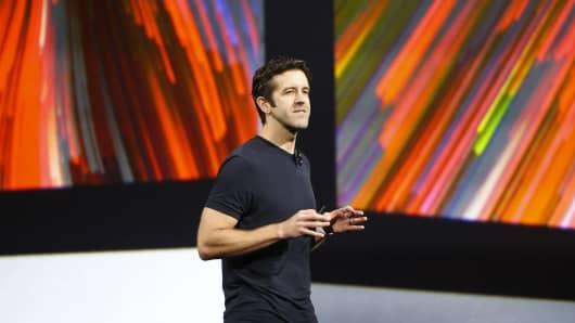 Apple's John Ternus speaks during Apple's annual worldwide developer conference (WWDC) in San Jose, California, June 5, 2017.