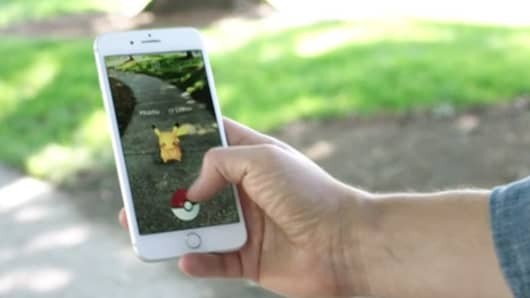 Pokemon AR demo at the WWDC 2017 in San Jose.