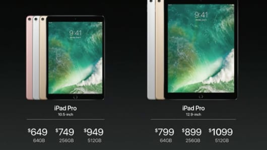 New iPad pricing unveiled at the WWDC 2017 in San Jose.