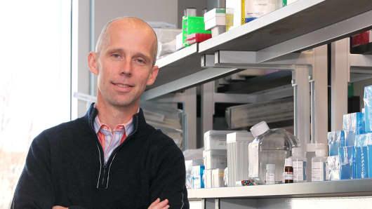 Nick Leschly, CEO of Bluebird Bio in Cambridge.