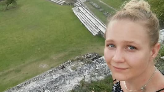 Reality Leigh Winner, 25, a federal contractor charged by the U.S. Department of Justice for sending classified material to a news organization, poses in a picture posted to her Instagram account.