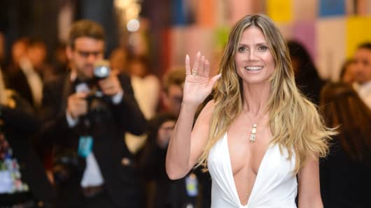Model and television personality Heidi Klum.