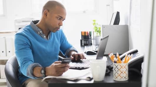 Man considering student loan refinancing