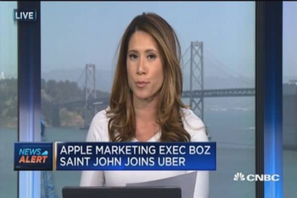 Apple marketing executive joins Uber