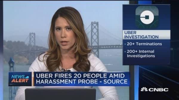 Uber firings include high-level employees
