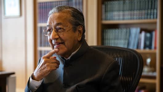 April 2017: Former Malaysian Prime Minister Mahathir Mohamad