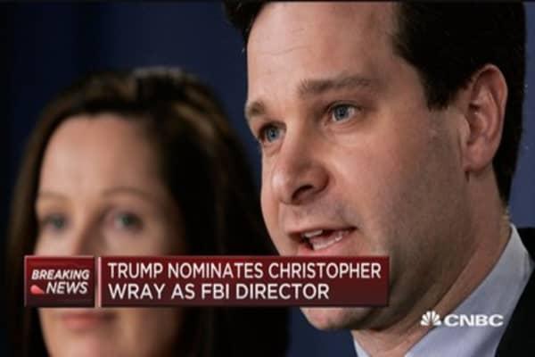 FBI nom Christopher Wray a 'heavyweight': Jim Cramer