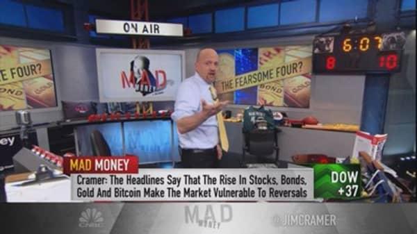 Cramer counters Wall Street worries