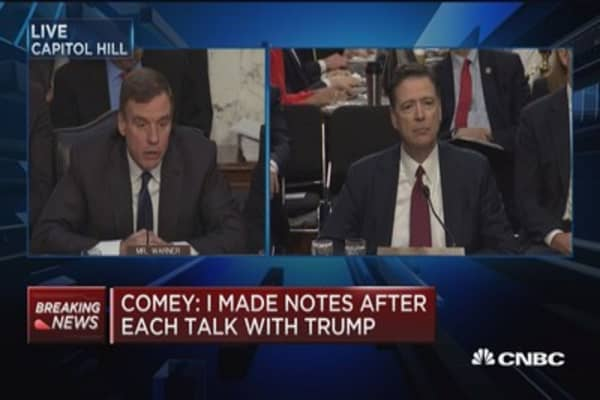 Comey: Made notes after meetings because of concern Trump would lie