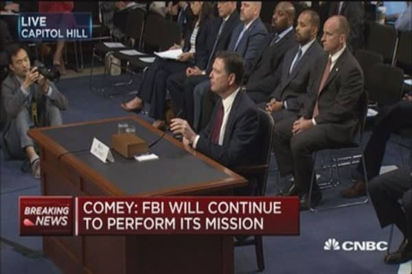 Comey: Don't know if I would've had presence of mind to tell Trump his request was inappropriate