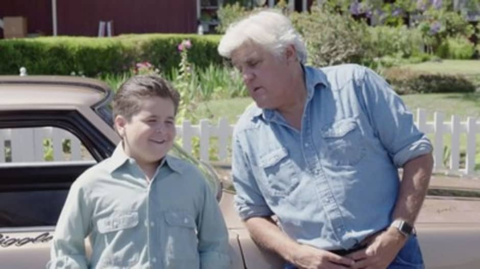 Jay Leno is Livin' the Dream with the younger version of himself