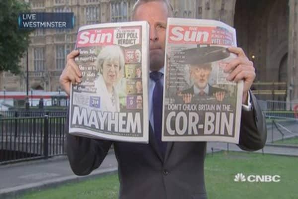 'May's gamble backfires': UK media reacts to political deadlock