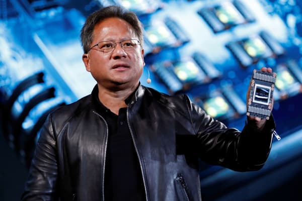 Nvidia co-founder and CEO Jensen Huang attends an event during the annual Computex computer exhibition in Taipei, Taiwan May 30, 2017.