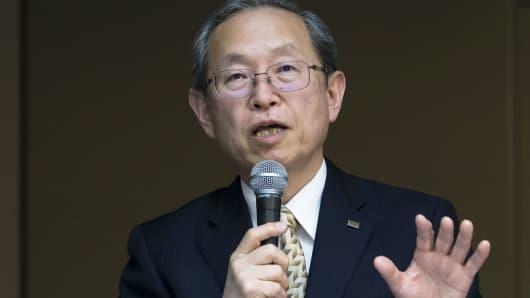 Satoshi Tsunakawa, president of Toshiba