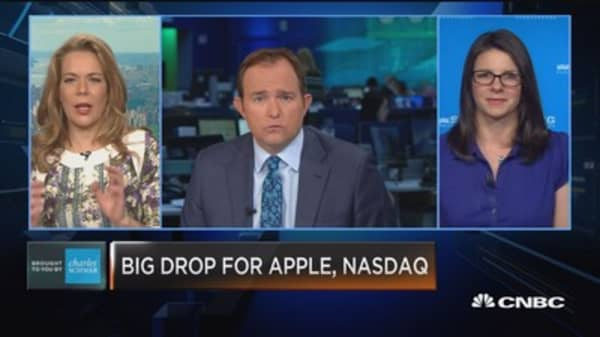 Trading Nation: Big drop for Apple, NASDAQ