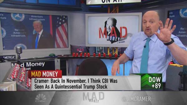 What's pushing Trump stock CB&I lower