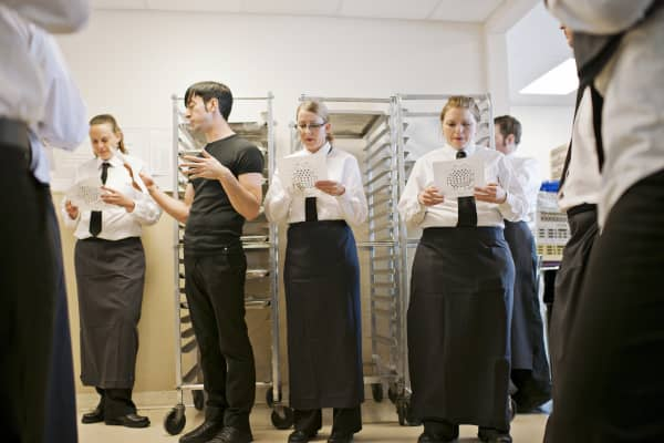 my experience of being a waitress A lot of restaurants will allow servers to replace other servers as long as they are  equal in their capabilities and experience being able to be.