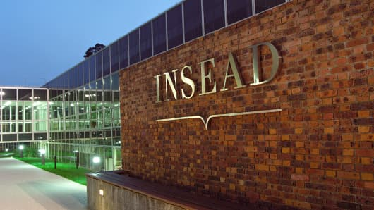 The INSEAD campus in Fontainebleau, France.