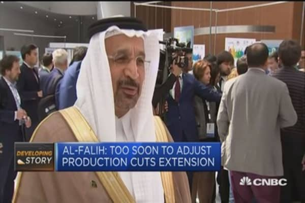 Saudi Energy Min: Too soon to adjust production cuts extension