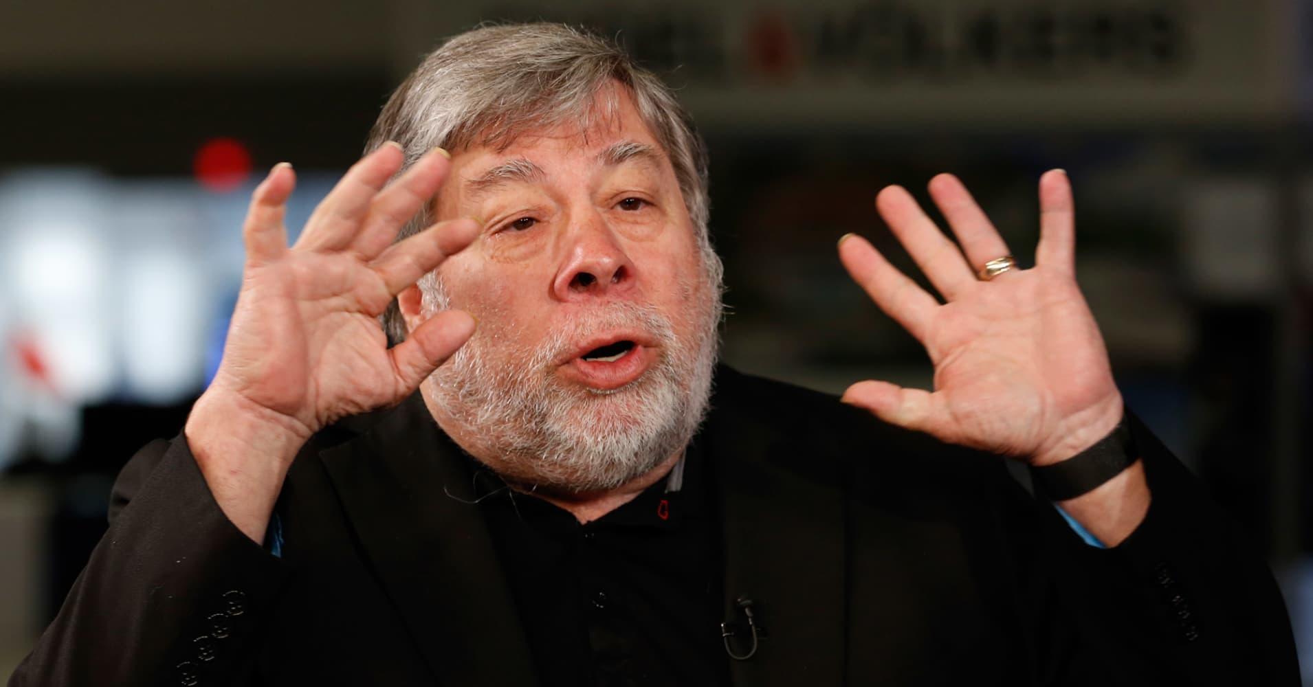 Steve Wozniak speaking at eMerge in Miami on June 12, 2017.