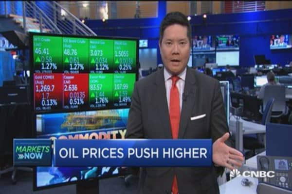 Oil prices push higher