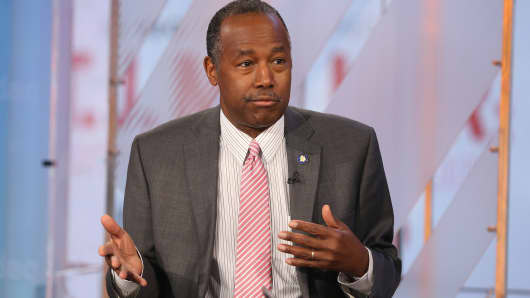 Ben Carson, Secretary of Housing and Urban Development.