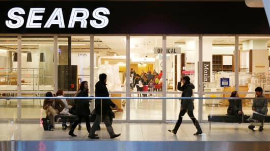 A Sears store in Toronto on its last day of operations in 2014.