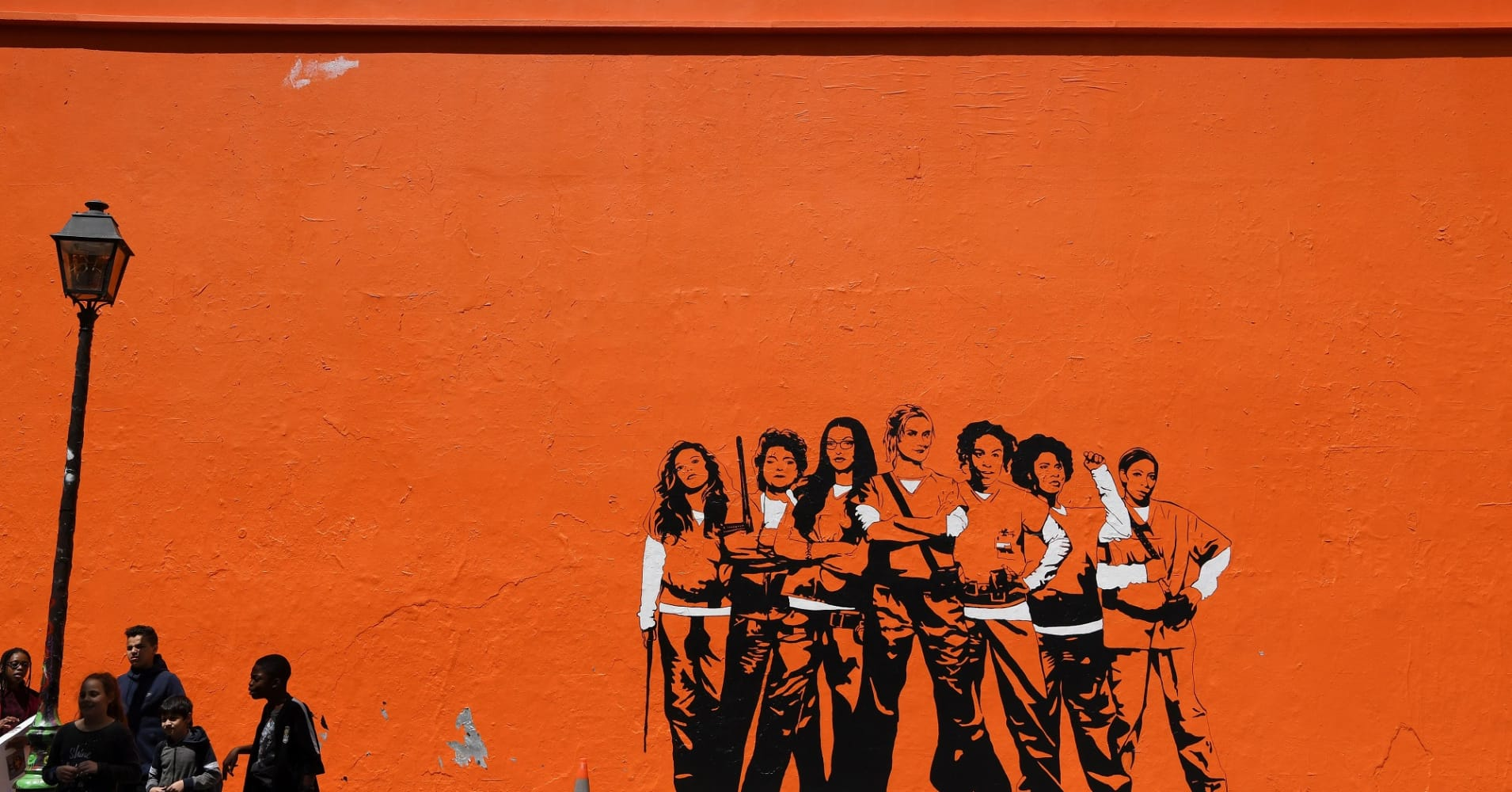 Mural for the Netflix series 'Orange Is the New Black.'
