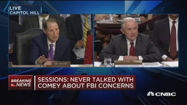 Jeff Sessions and Sen. Ron Wyden get into heated exchange