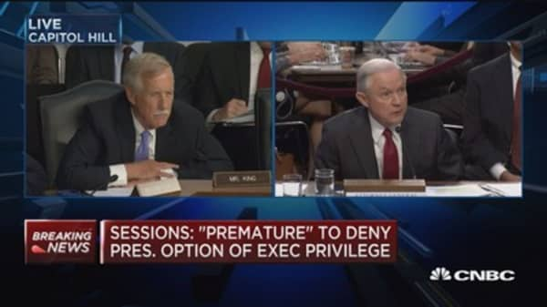 Jeff Sessions says he never received classified briefing on Russian election interference