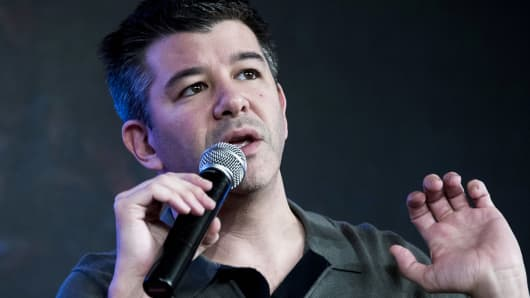 Travis Kalanick, co-founder and chief executive officer of Uber Technologies.