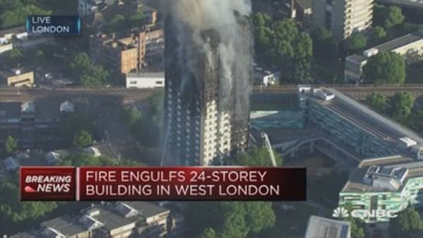 27-storey building on fire in London