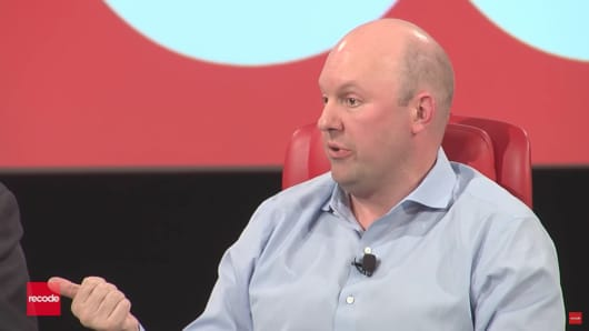 Marc Andreessen, cofounder of Andreessen Horowitz, speaks at Recode's 2017 Code Conference.