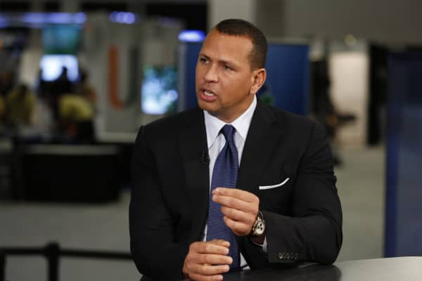 Alex Rodriguez at eAlex Rodriguez at eMerge Americas conference in Miami on June 13, 2017. Merge Americas conference in Miami on June 13, 2017.